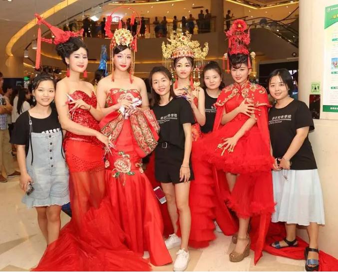 香港梵希化妆学员作品中国风