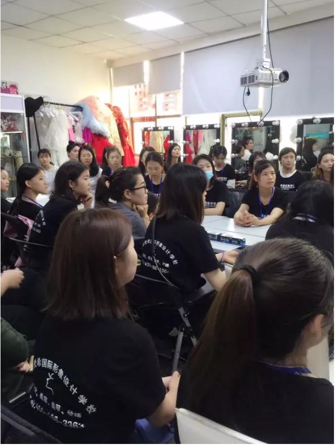 深圳梵希美容学校学员交流