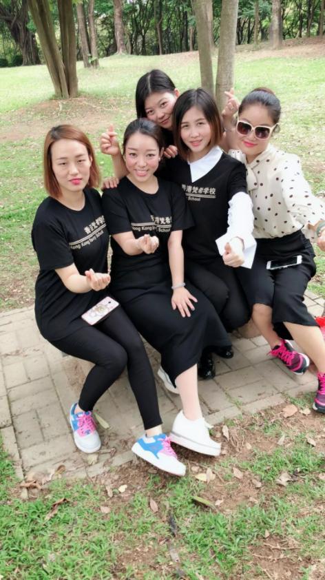 梵希化妆培训班老师合影