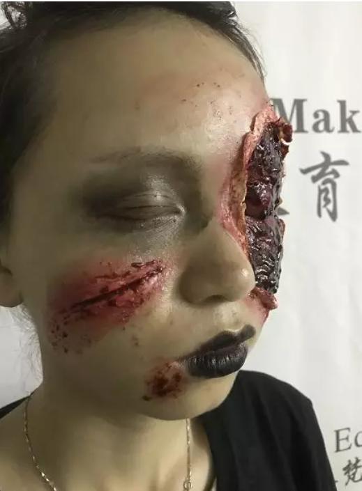 化妆培训班学员血腥造型