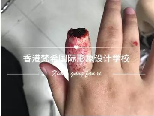 化妆培训班断手指造型