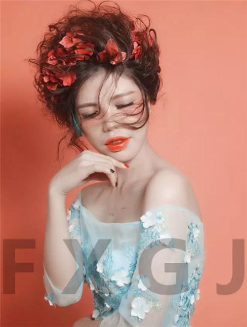 梵希化妆培学员作品森女新娘造型4