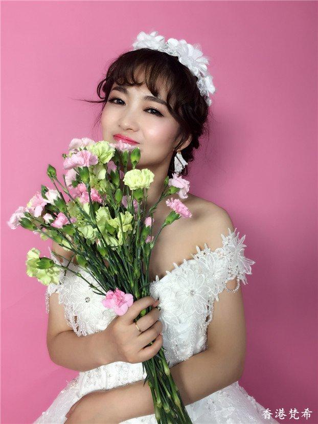 清新淑女新娘造型作品3