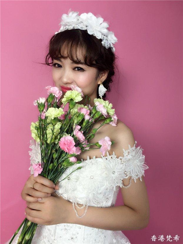 清新淑女新娘造型作品6