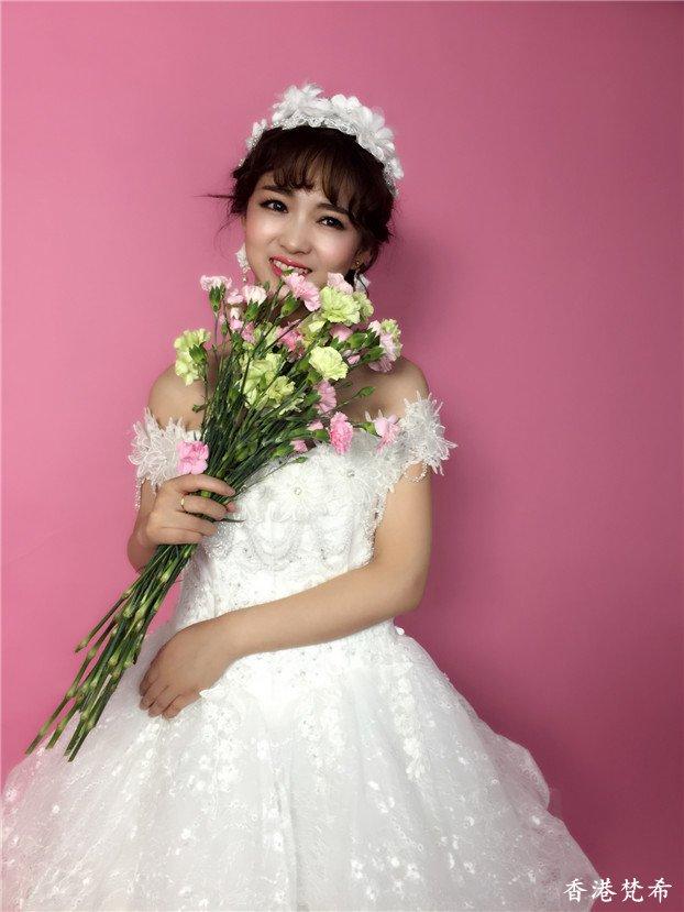 清新淑女新娘造型作品8