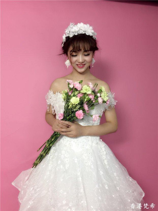 清新淑女新娘造型作品9