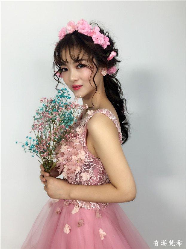 粉红甜美新娘造型作品2