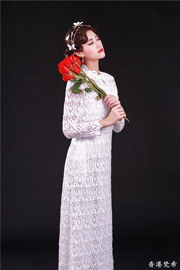 红色玫瑰复古造型作品2