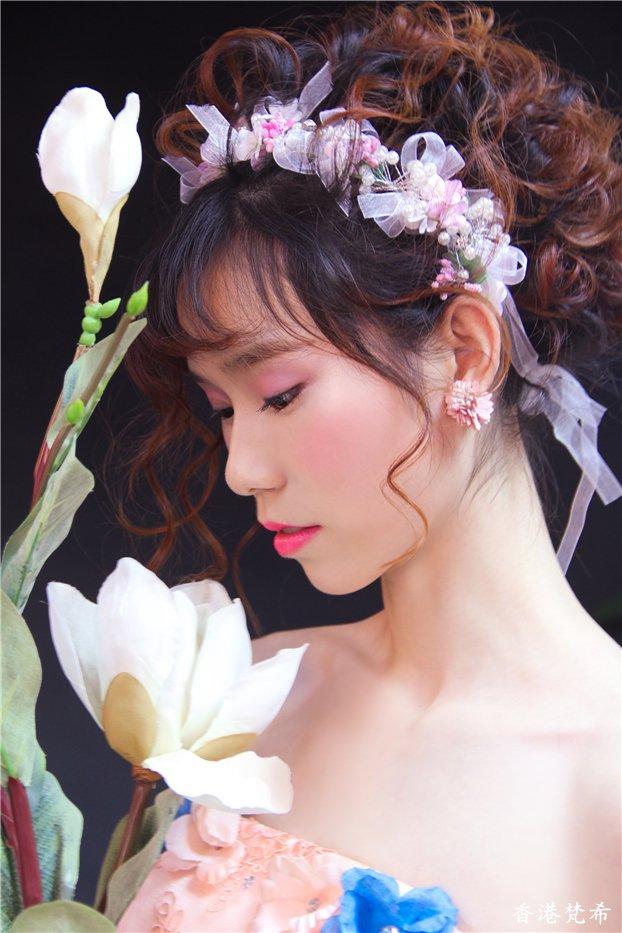 粉红佳人新娘造型作品4
