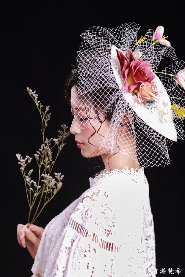 玫瑰花新娘造型2