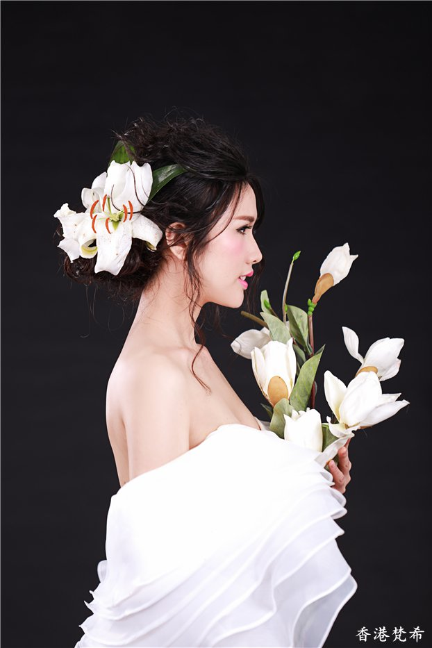 百合花新娘造型作品