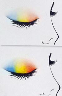 断层眼影的画法