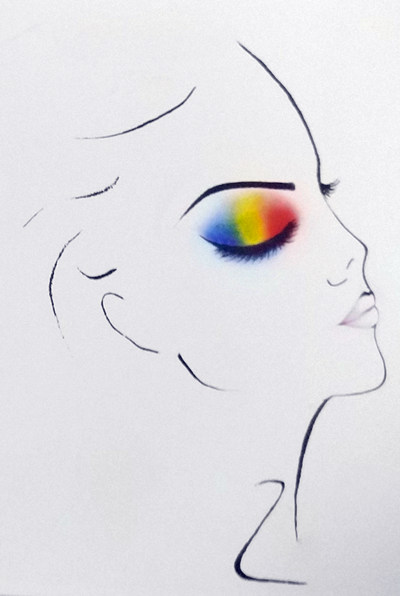 断层眼影的画法2