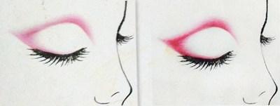 欧式眼影的画法