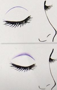 假双眼影的画法