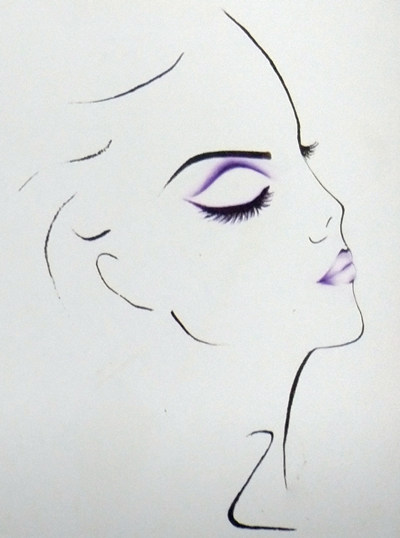 假双眼影的画法2