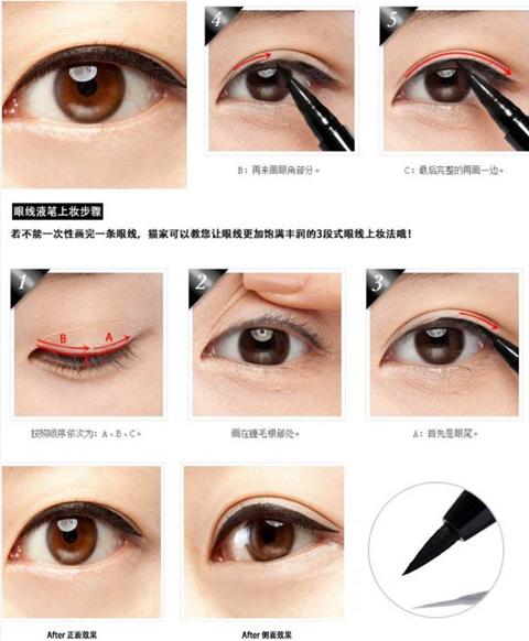 总结:眼线怎么画及画眼线详细步骤图解