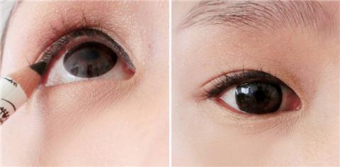内双如何画眼线蘸眼线膏